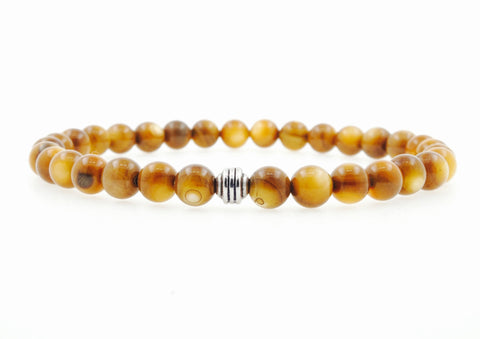 "Men's ""Aaron"" 10mm Matte Onyx Beaded Bracelet"