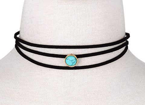 Bianca Denim Choker