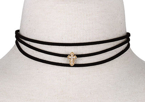 Ava Cross Choker