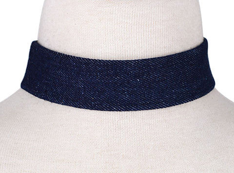 Denim Down Choker
