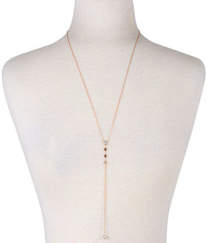 Kimmie Circle Crystal Pave Necklace