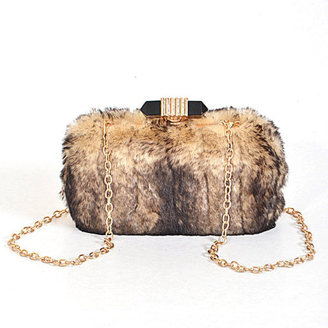 Jema Fur Clutch