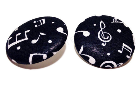Dallas Cowboys Print Button Earrings