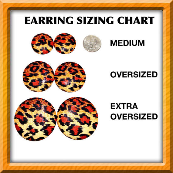 Javanese Peacock Print Button Earrings