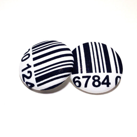 Bengal Tiger Print Button Earrings