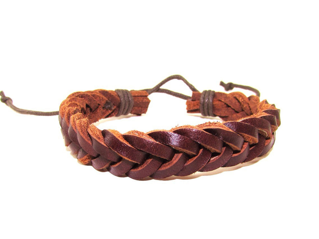 Wrap Rope Braided Adjustable Leather Bracelet