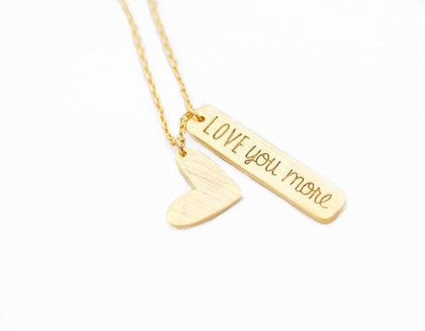 "Heart ""Always Be Mine"" Necklace"
