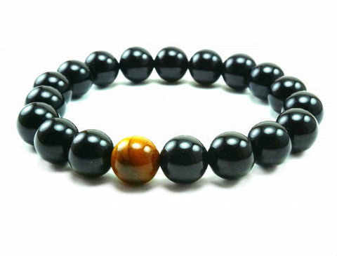Black Lava 6mm Beaded Bracelet
