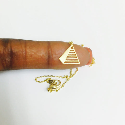 Chevron Triangle Necklace