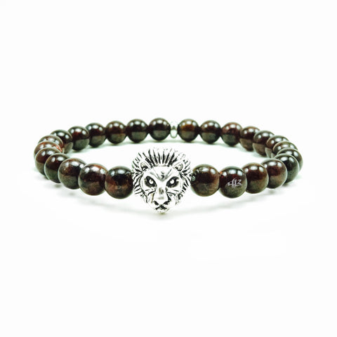 Azibo 8mm Bronzite Jasper Beaded Bracelet