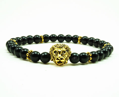 Matte Black Onyx 6mm Beaded Bracelet