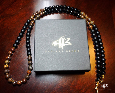 Jigga 8mm Black Onyx Beaded Necklace