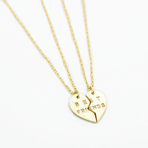 Bar Necklace with Hollow out Heart