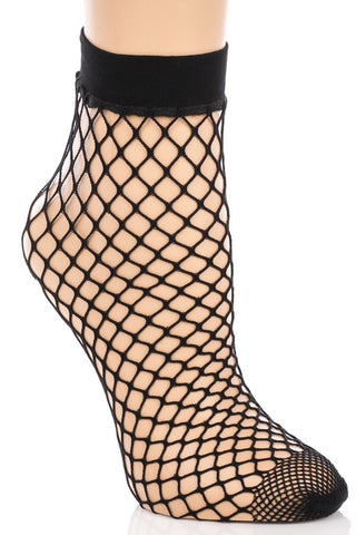 Paris Fishnet Ankle Socks