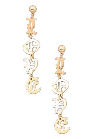Layla Gold Pineapple Drop Earrings