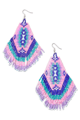Hazel Neon Triangle Drop Earrings