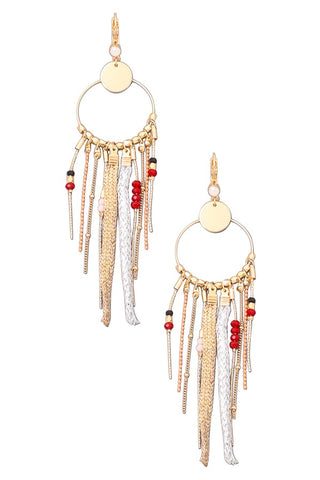 Evie Square Drop Textured Earrings