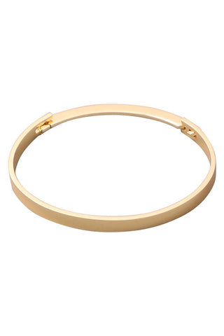 Gold Clover Jeweled Bangle Bracelet