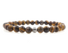 Amber Shell 6mm Beaded Bracelet