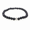 Cane 8mm or 10mm Onyx Beaded Bracelet