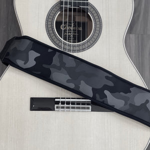 AirCell Guitar Strap for Bass & Electric Guitar, Adjustable, CAMO, BLACK/GREY (Regular Length)