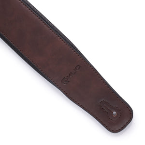Premium Padded Leather Guitar Strap, for Electric and Bass, AUBURN