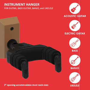 Forte Wall-Mount Instrument Hanger, MAHOGANY