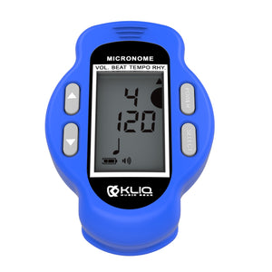 MicroNome - Rechargeable Digital Clip-On Metronome, BLUE