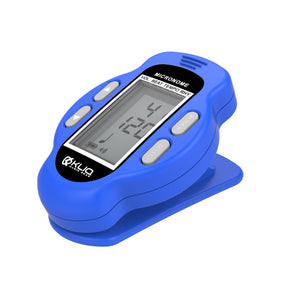 Bundle - KLIQ Ultra-TinyTuner (UT2), Micro Clip-On Tuner and KLIQ MicroNome - USB Rechargeable Digital Clip-On Metronome, (Blue)