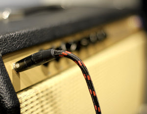 Custom Series Instrument Cable with Rean-Neutrik Straight to Angled Gold Plugs (10 Ft.)