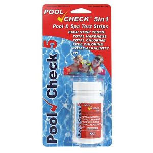 Pool Check 5 in 1 Test Strips