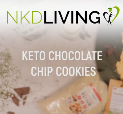 NKD Living Keto Friendly Choc Chip Cookies
