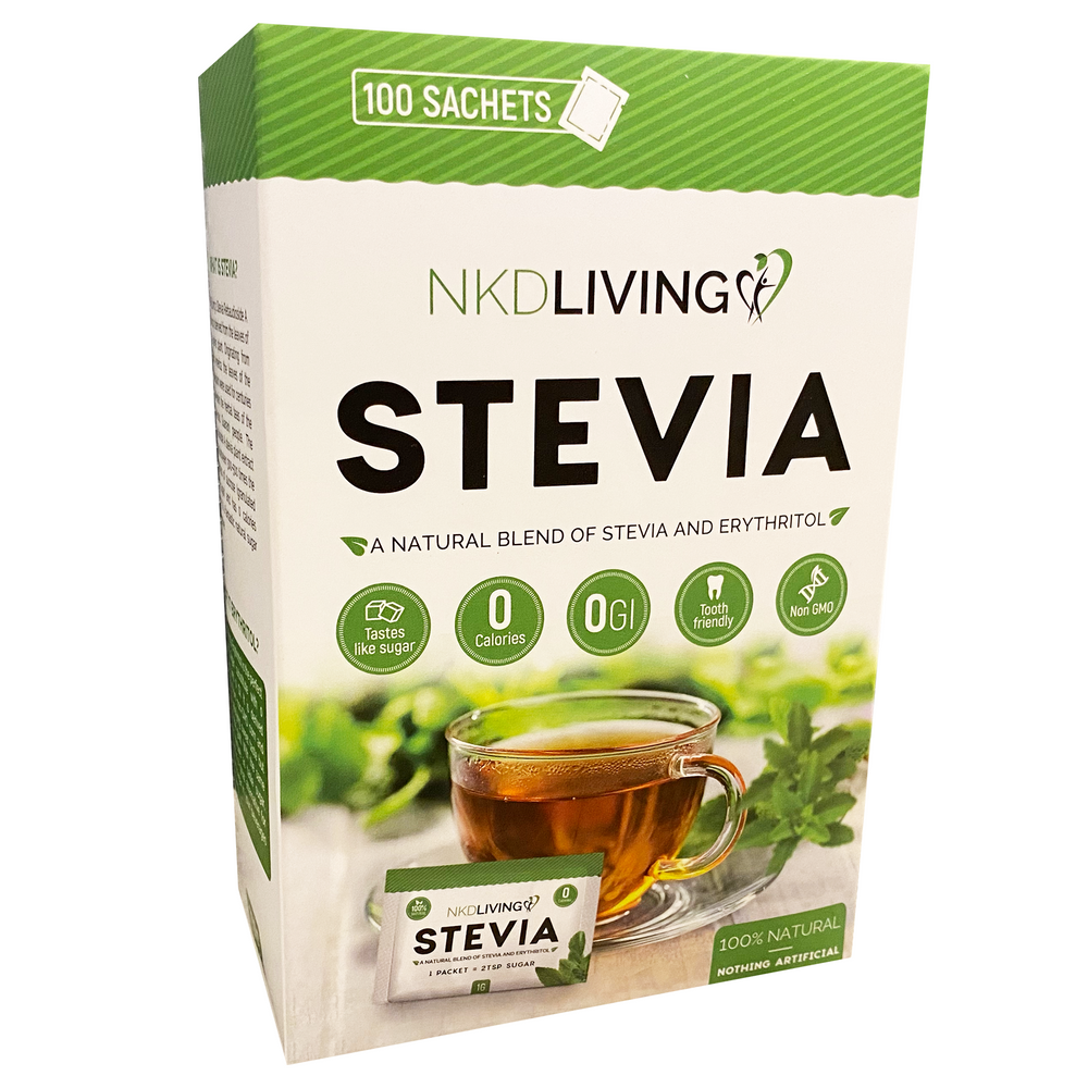 New! Stevia & Erythritol Sachets (100 sachets) by NKD Living