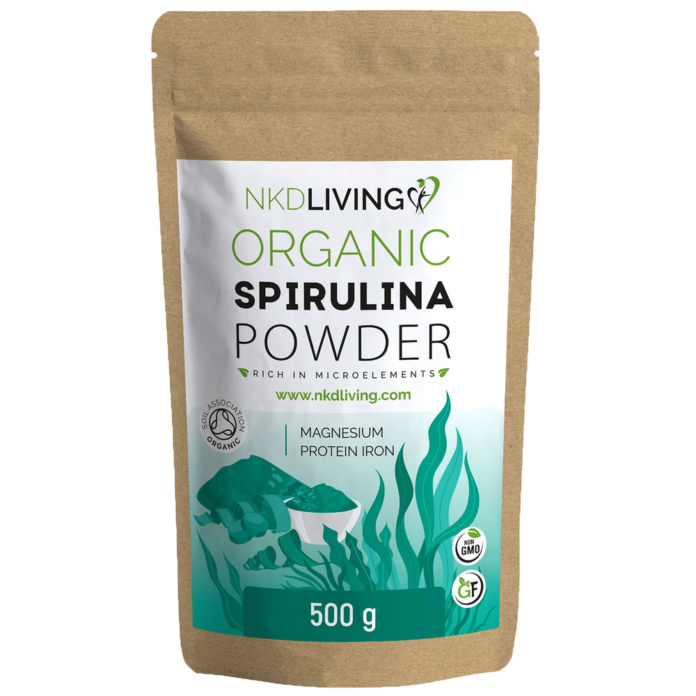 500g ORGANIC Spirulina Powder | Soil Association Organic Certified