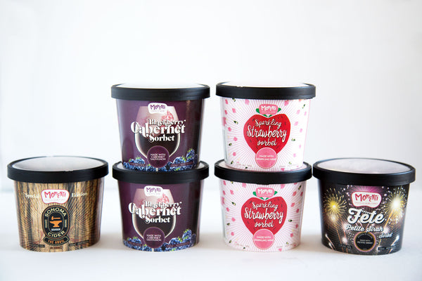 6 cups of our most popular Alcohol Infused Sorbets
