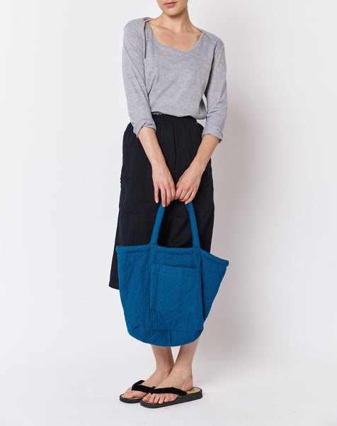 Padded Tote - Navy