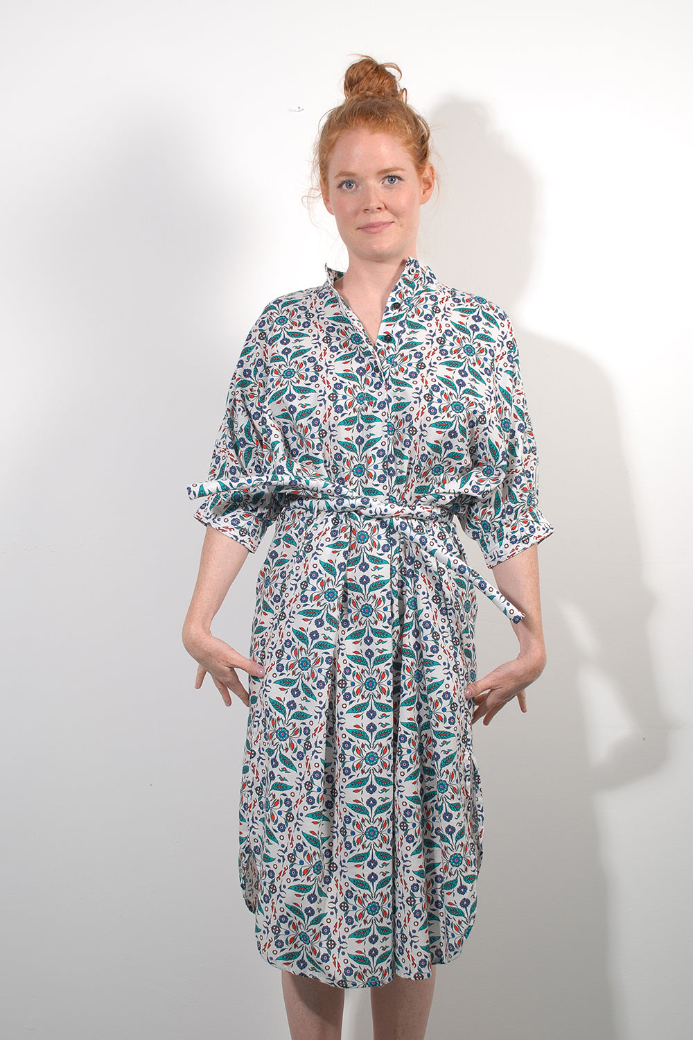 Turkish Flower Shirtdress