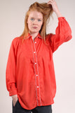 Dotted Swiss Smock Blouse º Red