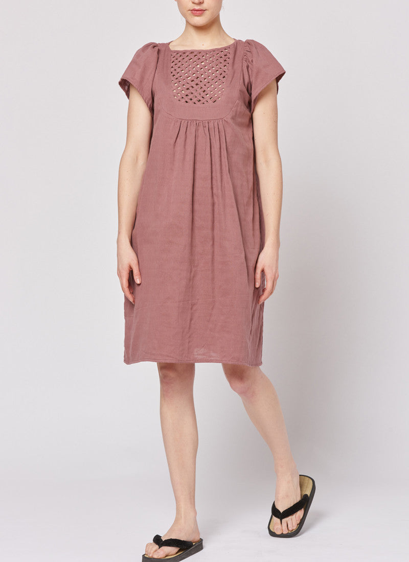 Lattice Dress ° Bordeaux