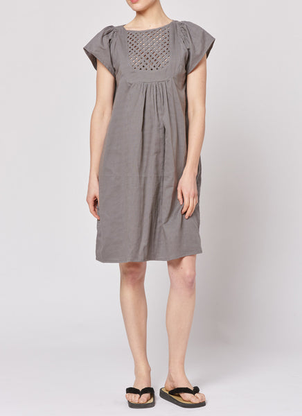 Lattice Dress - Grey