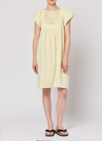 Lattice Dress - Lemon