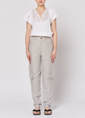 Lattice Top - White