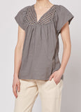 Lattice Top - Grey