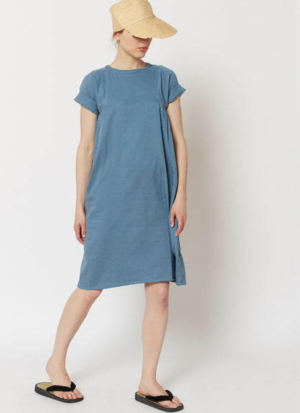 Solid Tri Dress - French Blue
