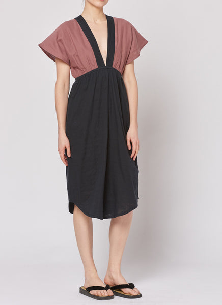 Summer Dress - Black/Bordeaux