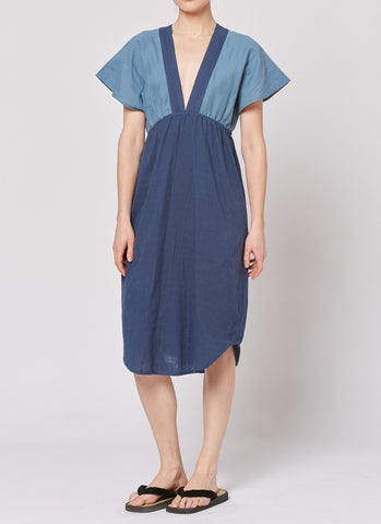 Summer Dress - Navy/Pewter