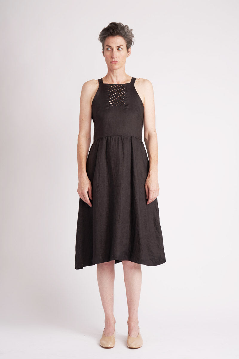 Lattice Tank Dress ° Black