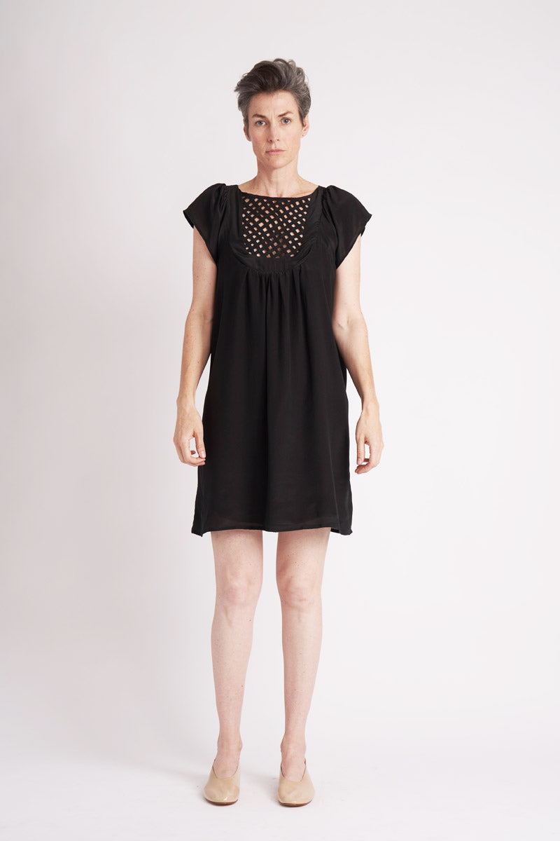 Silk Lattice Dress