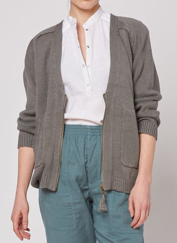 Tassle Cardigan - Grey