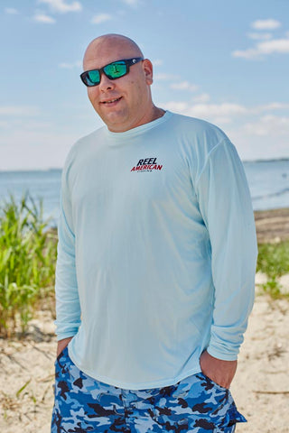 Reel American Performance - SPF 40 - Long Sleeve Shirt - Light Blue